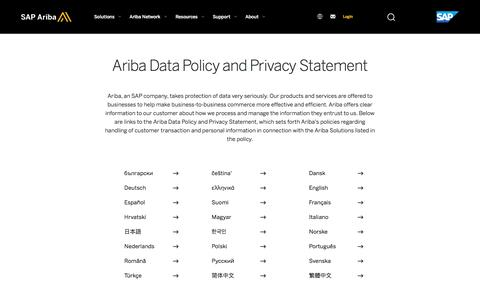 Ariba Data Policy And Privacy Statement 04 22 2016