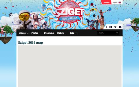 Screenshot of Maps & Directions Page szigetfestival.com - Sziget Festival - Map - captured Sept. 23, 2014