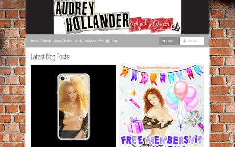 Screenshot of Blog theaudreyhollander.com - Audrey Hollander | Blog - captured Jan. 31, 2018