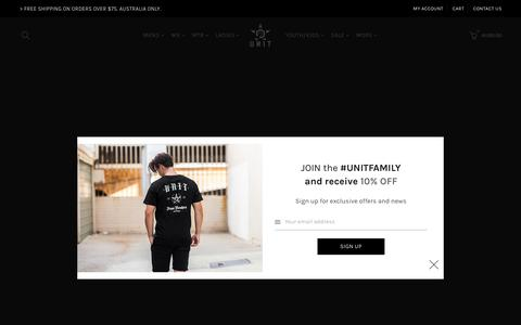 Screenshot of Home Page unit.com - Unit Clothing | Shop UNIT | Clothes – UNIT Clothing - captured Sept. 23, 2018