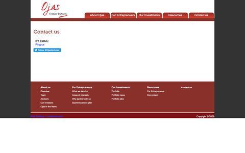 Screenshot of Contact Page ojasventures.com - Contact us | Ojas Venture Partners - captured Nov. 29, 2016