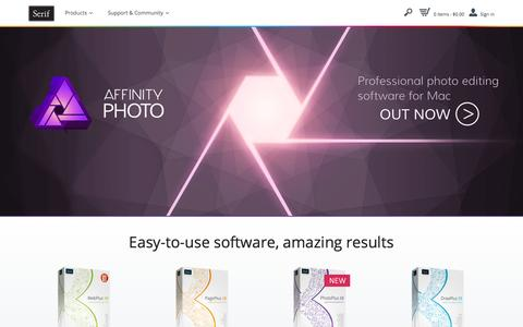 Web design, photo editing and DTP software - Serif
