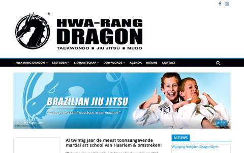 Screenshot of Home Page taekwon.nl - Hwa-Rang Dragon Haarlem Heemstede - captured Sept. 30, 2018