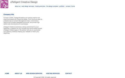 Screenshot of About Page etelligentcreative.com - eTelligent Creative Design Design Process - Web Development Firm in Seattle, WA - captured Oct. 3, 2014