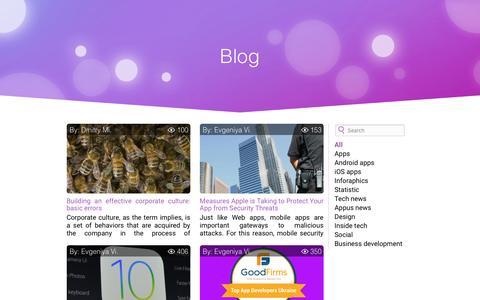 Screenshot of Blog appus.pro - Articles - captured July 23, 2016