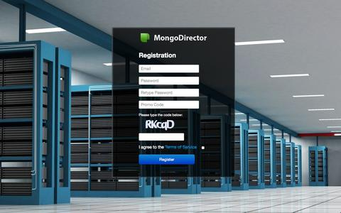 Screenshot of Landing Page mongodirector.com - ScaleGrid | Register - captured Oct. 27, 2014