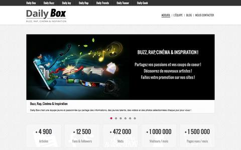 Screenshot of Home Page daily-box.fr - Daily Box - Accueil - captured Aug. 31, 2015