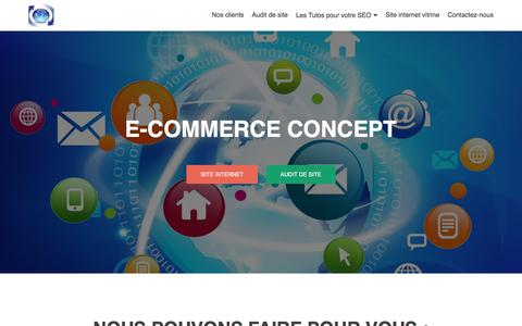 Screenshot of Home Page e-commerce-concept.eu - Site internet, agréé formation et attestation d'UB Bayonne - captured Oct. 14, 2017
