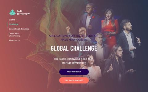 Screenshot of FAQ Page hello-tomorrow.org - Challenge - Hello Tomorrow - captured Jan. 23, 2020