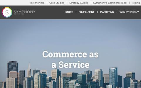 Screenshot of About Page symphonycommerce.com - About Us | Symphony Commerce - captured Sept. 17, 2014
