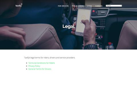 Screenshot of Terms Page taxify.eu - Taxify - Legal - captured Aug. 11, 2017