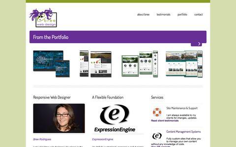 Screenshot of Home Page ebree.com - eBree Web Design | Cambridge & Wakefield MA | Web Design & ExpressionEngine Development - captured Nov. 14, 2016