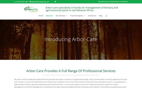 Screenshot of About Page arbor-care.co.za - About Arbor-Care - Arbor Care - captured July 30, 2018