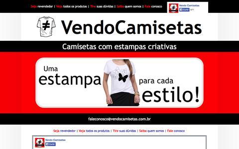 Screenshot of Home Page vendocamisetas.com.br - VendoCamisetas - Camisetas com estampas criativas - captured Oct. 7, 2014