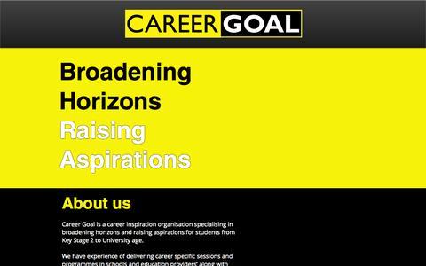 Screenshot of Contact Page careergoal.co.uk - career-goal - captured Sept. 30, 2014