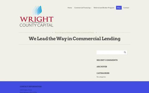 Screenshot of Blog wrightcountycapital.com - Blog - Wright County Capital - captured Oct. 26, 2014