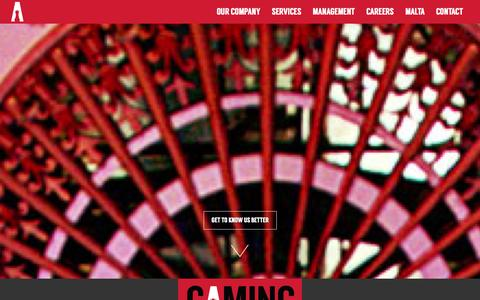 Screenshot of Home Page gbsmalta.com.mt - Gaming Business Services - Gaming Operations in Malta - captured Oct. 2, 2014