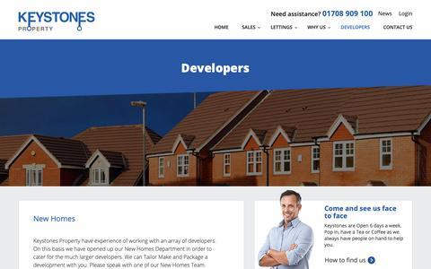 Screenshot of Developers Page key-stones.co.uk - Developers » Keystones Property - captured Oct. 15, 2018
