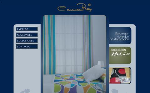 Screenshot of Home Page carmenrey.com - Carmen Rey - captured Oct. 2, 2014