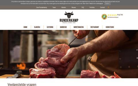 Screenshot of FAQ Page runderkamp.nl - FAQ Runderkamp | Passie sinds 1884 | Runderkamp.nl - captured Nov. 7, 2018