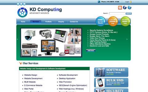 Screenshot of Services Page kdcomputing.com - sthan India _ _ _KD Computing, Website Software Development Company Jaipur Raja - captured Aug. 8, 2016