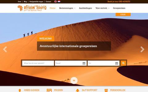 Screenshot of FAQ Page africantravels.com -   Rondreizen & Vrijwilligerswerk in Afrika - captured Sept. 30, 2014