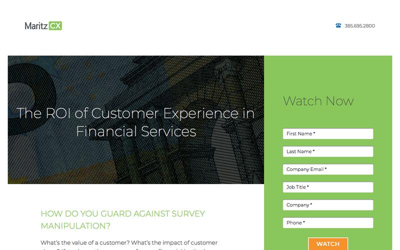 The ROI of Customer Experience in Financial Services | MaritzCX