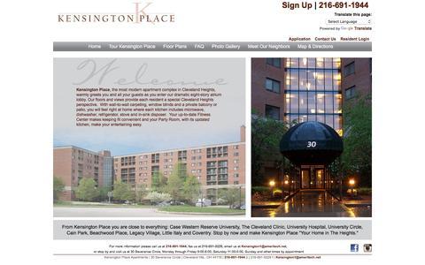 Screenshot of Home Page kensingtonplaceapartments.com - Kensington Place | Apartments near Case Western Reserve - captured June 18, 2016