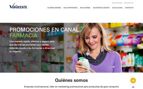 Screenshot of Home Page valassis.es - Valassis España | Home - captured Sept. 23, 2018