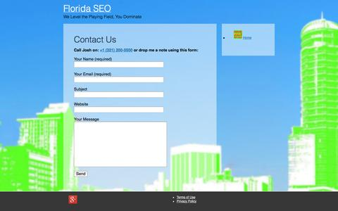 Screenshot of Contact Page floridaseo.org - Contact Us - Florida SEO - captured Oct. 31, 2014