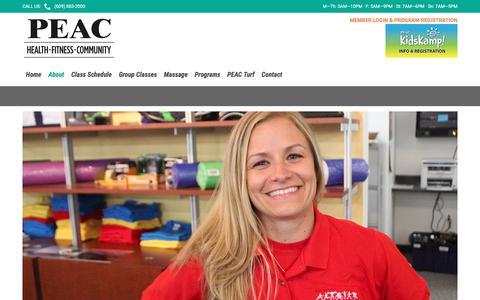 Screenshot of Services Page peachealthfitness.com - Services – PEAC Health & Fitness - captured July 14, 2018