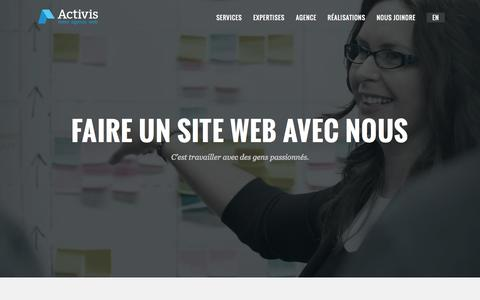 Screenshot of Support Page activis.ca - Activis - Votre agence web - captured Oct. 4, 2014