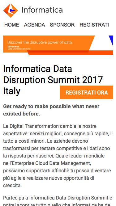 Informatica Data Disruption Summit 2017 | HOME