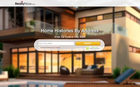 Screenshot of Landing Page realtynow.com - Free MLS Property Search | Buy a Home | Find Foreclosure and HUD Properties For Sale - captured Dec. 9, 2015