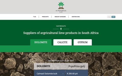 Screenshot of Products Page kalk.co.za - Products - Kalk - captured April 30, 2016