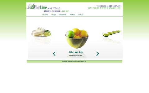 Screenshot of Home Page planetlimemarketing.com - Eco Friendly Promotional Products (Planet Lime) - captured Jan. 26, 2015