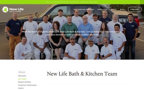 Screenshot of Team Page newlifehi.com - Meet Our Team   New Life Bath & Kitchen - captured Nov. 29, 2016
