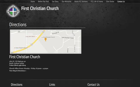 Screenshot of Maps & Directions Page fccbrazil.org - Directions | First Christian Church - captured Feb. 10, 2016