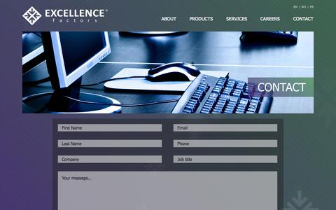 Screenshot of Contact Page excellence-factors.com - Excellence Factors - captured Sept. 30, 2014