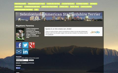 Screenshot of About Page jimdo.com - Informazioni legali - Allevamento amstaff blue - captured Sept. 16, 2014