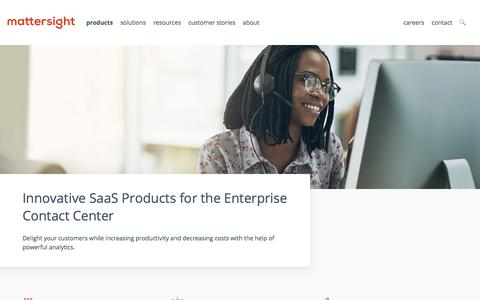 Screenshot of Products Page mattersight.com - Products | Mattersight - captured July 12, 2018