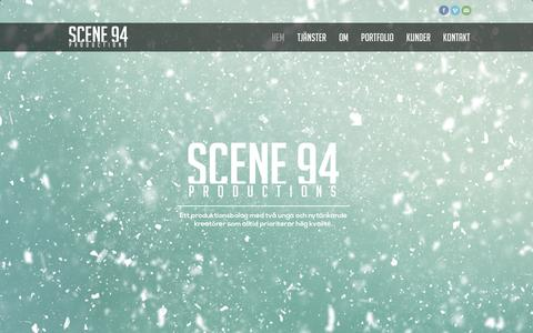 Screenshot of Home Page scene94.se - Scene 94 - Kommunikation genom film - captured Sept. 30, 2014