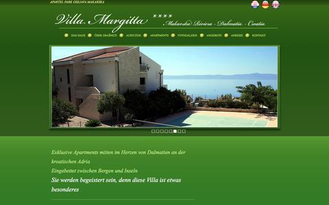 Screenshot of Home Page Privacy Page villamargitta.de - Villa Margitta - Apartments, Ferienwohnungen mit Pool zentral an der kroatischen Adria und mitten im Herzen von Dalmatien - captured June 8, 2016
