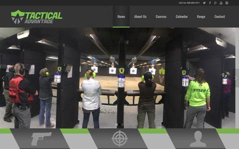Screenshot of Home Page tacticaladvantagemn.com - Full-Service Gun Range | Tactical Advantage - captured Dec. 20, 2016