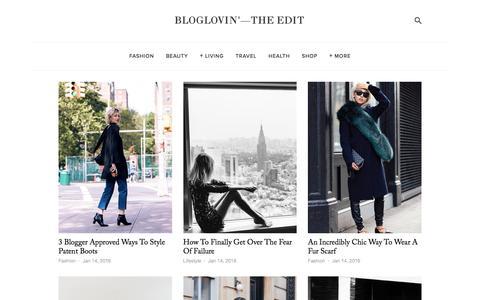 Screenshot of Blog bloglovin.com - Bloglovin'—the Edit - captured Jan. 14, 2016