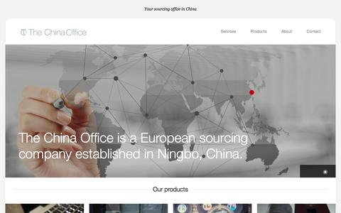 Screenshot of Home Page the-china-office.com - The China Office - captured Sept. 30, 2014