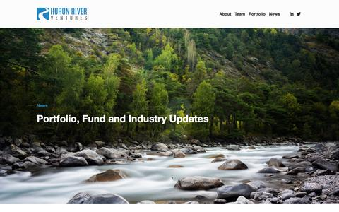 Screenshot of Press Page huronrivervc.com - News — Huron River Ventures - captured Sept. 30, 2018