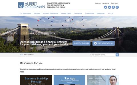 Resources for you | Chartered Accountants | Albert Goodman