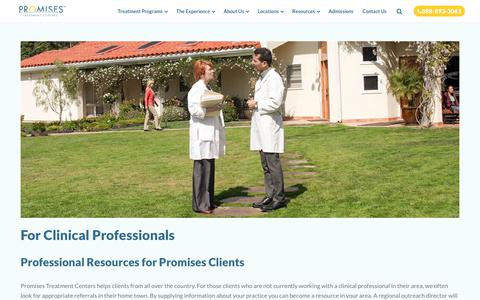 For Clinical Professionals | Professional Rehab Resources