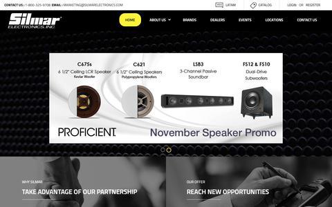 Screenshot of Home Page silmarelectronics.com - Home - Silmar Electronics - captured Nov. 15, 2018